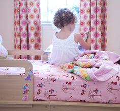 Serger-made crib sheets