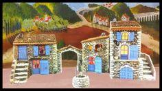 """Santons Atelier de Fanny-Santons et Crèches de Noël-Santons de Provence - Ensemble de Maisons en pierres - <s>162.00 EUR</s> <span class=""""productSpecialPrice"""">155.00 EUR</span>"""