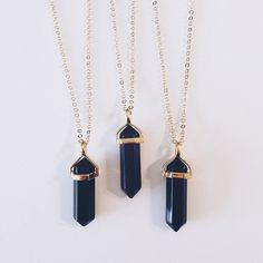 Onyx on Gold – Stargaze Jewelry