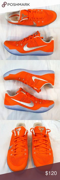 new arrival f9666 9fb7b Nike Kobe XI 11 TB Promo Orange Silver Size 17 Nike Kobe XI 11 TB Promo  Orange Blaze Silver-White Size 17 856485 883 Please note these shoes have  some light ...