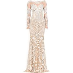 Zuhair Murad 2014 - satinee.polyvore.com ❤ liked on Polyvore featuring dresses, gowns, long dresses, vestidos, satinee, zuhair murad evening gowns, beige evening dress, zuhair murad gowns, beige dress and beige long dress