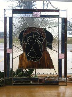 Kim's custom pet stained glass