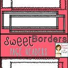 $5.00 Do you create digital products? These are perfect for your TpT items or digital scrapbooking!You will receive 26 different headers!!! {Borders w...