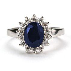 Genuine Sapphire Royal Engagement Ring