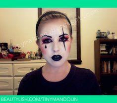 Harlequin Make-Up, Front View | Mandy E.'s (mandyeverley) Photo | Beautylish