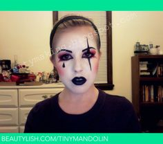 Harlequin Make-Up, Front View | Mandy E.'s (mandyeverley) Photo | Beautylish