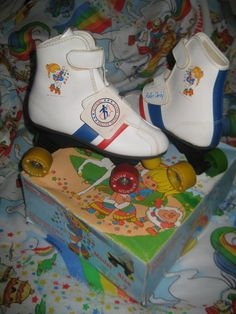 Vintage Rainbow Brite Roller Derby Skates by InwithOldOutwithNew