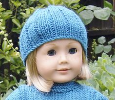 Ravelry:  American Girl Doll Free Pull-on Hat Pattern by Jacqueline Gibb (Free Pattern)
