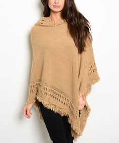 Love this Cream Hooded Asymmetrical Poncho on #zulily! #zulilyfinds