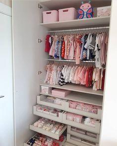 New Girls Bedroom Closet Organization Heavens Ideas Baby Boy Rooms, Baby Bedroom, Baby Room Decor, Girls Bedroom, Master Bedroom, Baby Girl Closet, Kid Closet, Room Closet, Closet Ideas