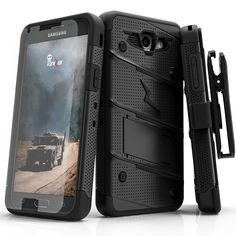 Zizo Bolt Case for Samsung Galaxy J7 Prime - 12 ft. Military Grade Drop Tested + Screen Protector