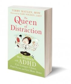 """Listen to my podcast on the Michelle Skeen show on Women with ADHD and my book, """"The Queen of Distraction."""""""