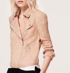 Lou & Grey Linen Blush Moto Jacket
