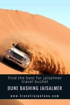 DUNE BASHING is an ultimate fun experience of dessert in Jaisalmer Rajasthan. Fit for a travel lover.