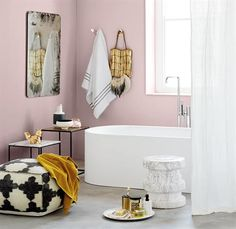 Bathroom Bliss: Clever Design Ideas to Liven up your Bathroom Yellow Bathrooms, Dream Bathrooms, White Bathroom, Small Bathroom, Plascon Paint, Plascon Colours, Mermaid Room, Clever Design, Colour Schemes