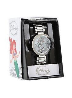 <p>Silver tone watch from Disney's <i>The Little Mermaid</i> with clear gem detailed Ariel shaker charms design.</p> <ul> <li>Metal</li> <li>Imported</li> </ul>