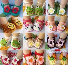 Zapatos de bebé tejidos a mano | Aprender manualidades es facilisimo.com