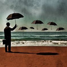 the man and the sea by giuseppe maiorana.    I like the Magritte inspiration here.