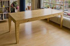 Risultati immagini per osb mesa Plywood Furniture, Osb Plywood, Diy Furniture, Furniture Design, Osb Table, Plywood Table, Diy Dining Table, Osb Board, Flat Interior Design
