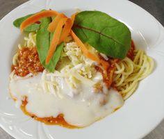 Denné menu Vranov | Špagety s bravčovým mäsom a syrovým bešamelom - reštaurácia Hotel Patriot*** #DenneMenu #Restauracia #Spagety