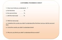 working with listening transcripts 2 – Keep It Simple Activities Listening English, Teaching Vocabulary, Good Listener, Classroom Language, Syllable, Writing Activities, Make Sense, Understanding Yourself, Food For Thought
