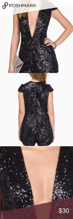 Sequin romper prices are negotiable Super cute! Worn once. Deep v neck price is negotiable Tobi Dresses Mini