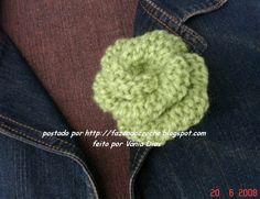 ...Fazendo Crochê...: Flor de tricô Vitória Quintal