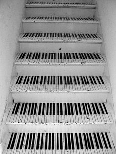 Marches d'escaliers piano