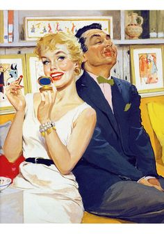 I like this gal. She's clearly down with whatever.  illustration: Ernest Chiriacka