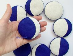 Moon Phases Felt Board Moon Phases magnets by DevelopingToys