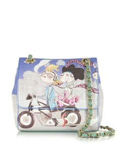 Moschino Girls Motocycle Small Saffiano Eco Leather Bag