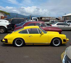 Nice Porsche!  #protecautocare #engineflush #carrepair #porsche #911 #yellow #classic #fun #colorful #car #horsepower #fast #tinted #customized #custom #nofilter #followus