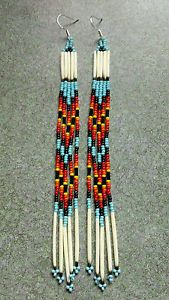 porcupine quillwork native american lakota | Details about NATIVE AMERICAN STYLE BEADED DOUBLE PORCUPINE QUILL ...