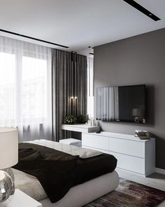 60 best master bedroom ideas that you'll fall in love with it 51 is part of Interior design bedroom - 60 best master bedroom ideas that you'll fall in love with it 51 Related Modern Bedroom Design, Room Interior Design, Home Room Design, Master Bedroom Design, Home Decor Bedroom, Bedroom Ideas, Bedroom Tv, Bedroom Interiors, Master Bedrooms