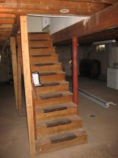 Amazing Spiral Stairs Plans : Donss Home Decors - Basement Stairs Design Ideas Basement House, Basement Stairs, Stair Kits, Stair Plan, Stair Gallery, Floor Insulation, Building Stairs, Living Place, Loft