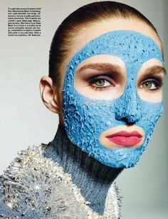 vibi8 Vogue Italia Beauty July 2014   Manuela Frey by Richard Burbridge [Beauty]