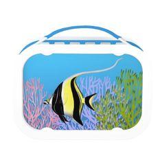 Moorish Idol Coral Reef Fish Lunchbox  #shopping  #gifts  #fish  #tropical fish