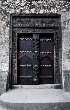 Africa | Doors of Stone Town in Zanzibar are quite beautiful. They guard the entrances of the communal buildings and many are very old. The vast majority of them have some level of ornamentation and engraving. | © Scurvy_knaves on flickr