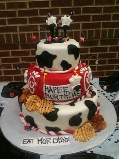 Birthday cake for the chic-fil-a cow!