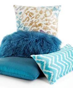 "INC International Concepts Cheetah Sequin 18"" Square Decorative Pillow"