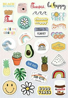 Stickers vsco descargables Tumblr Stickers, Funny Stickers, Diy Stickers, Printable Stickers, Laptop Stickers, Sticker Ideas, Journal Stickers, Planner Stickers, Auto Logo