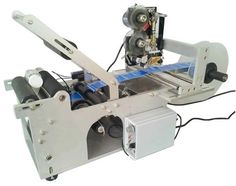 700.00$  Buy here - http://alim1w.worldwells.pw/go.php?t=32741244673 - Semi-auto labeling machine for round objects, Small labeling machine with code printer 700.00$