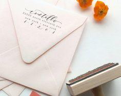 Whimsical calligrafia restituire indirizzo indicatore - misto moderno calligrafia a mano e tipo - stile ribelle