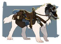 Custom Toko Tack DONE Mystical Animals, Mythical Creatures Art, Magical Creatures, Creature Concept Art, Creature Design, Fantasy Beasts, Fantasy Art, Wolf Rider, Anime Wolf Drawing