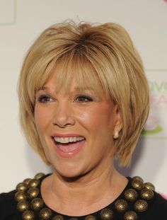 Get the look of longer hair, without the fuss, with a short 'do that gives the illusion of more hair. Joan London has face-framing layers that have been straightened and a great color to give it more fullness.More Hairstyles Just for Us:10 Perfect Ponytails Over 40Blonde Hairstyles Over 50Red Hair O...
