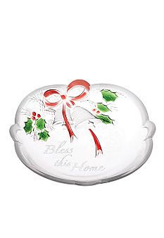 Mikasa Holiday Bells Sentiment Sweet Dish HAVE 3 DIFFERENT PIECES OF THIS PATTERN...VERY NICE...