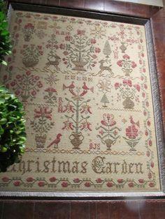 Christmas Garden, Blackbird Designs @ Country Sampler