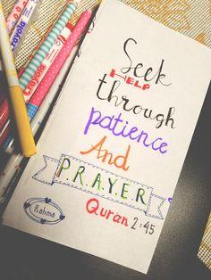 Learn Islam, Muslim Quotes, Patience, Quran, Allah, Qoutes, Trust, Prayers, Bullet Journal