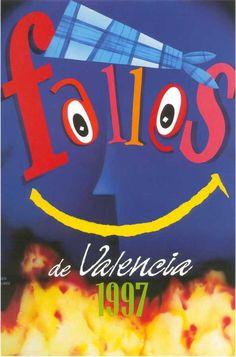 Cartel Fallas de Valencia 1997. Diseño: Iván Ramón