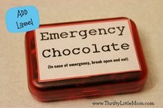 Complete Emergency Chocolate Box. I can think of a sweet little lady who would love this. :3